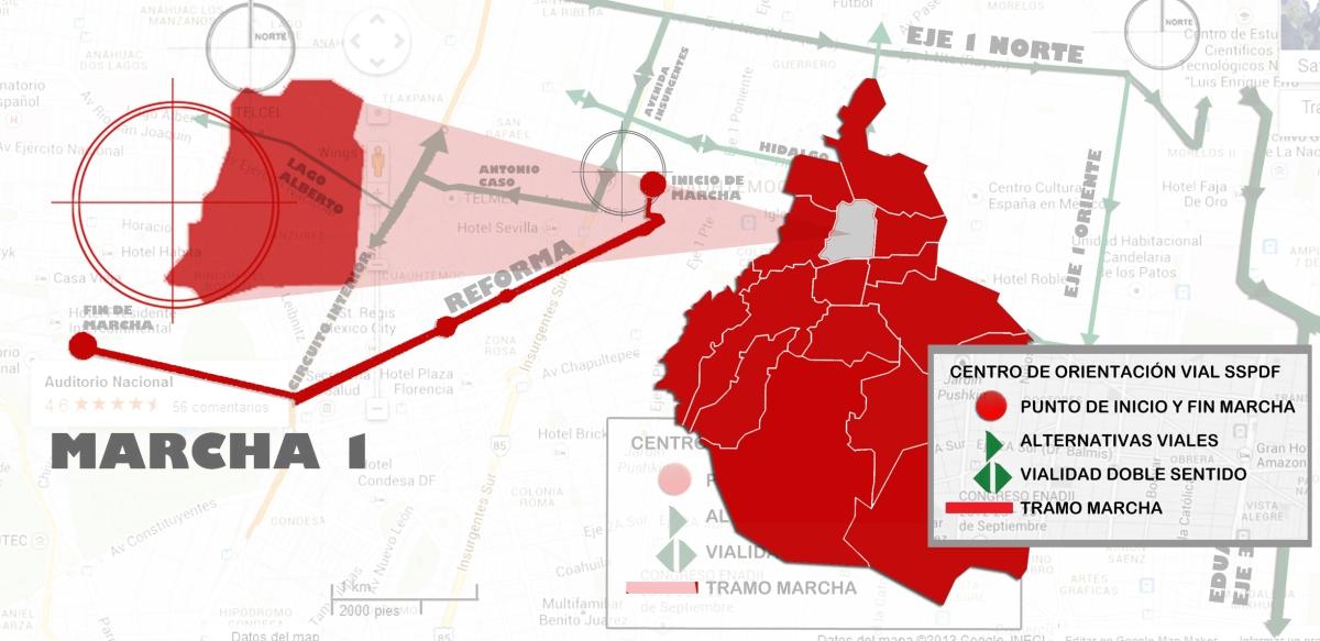 #Marchas y movilizaciones para hoy miércoles 20 de junio en la CDMX