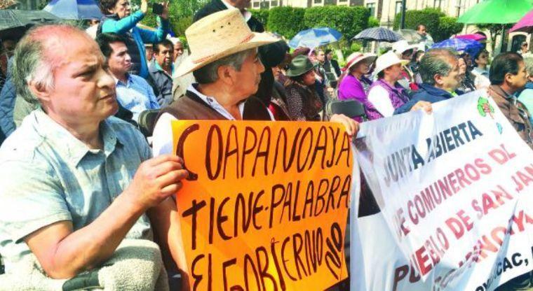 protestan comuneros