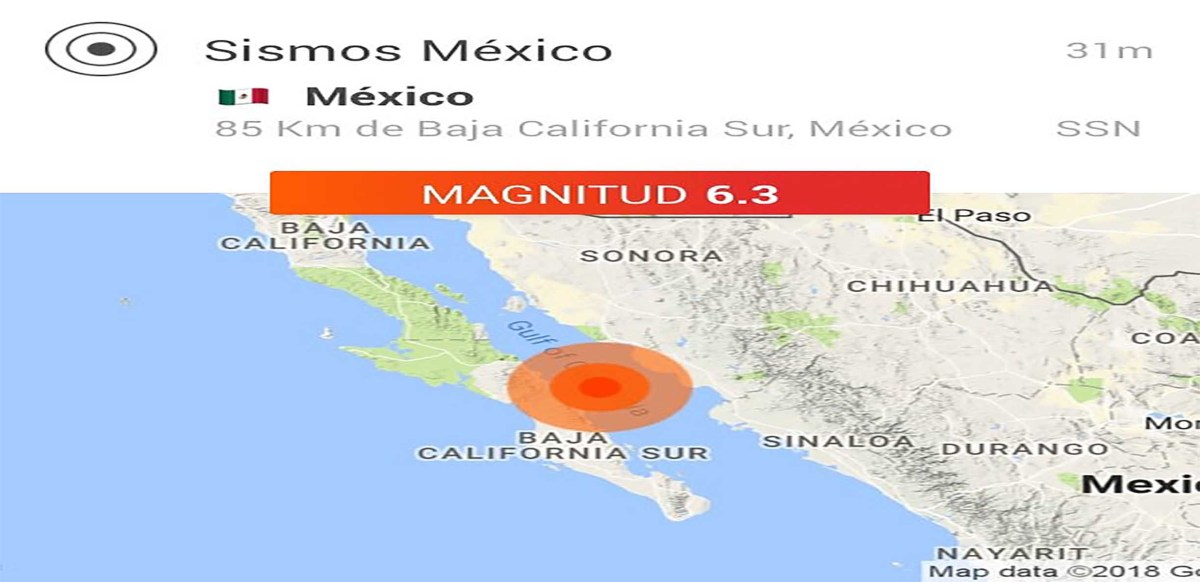 No se reportan daños luego de sismo de 6.3 ocurrido en Loreto, Baja California Sur