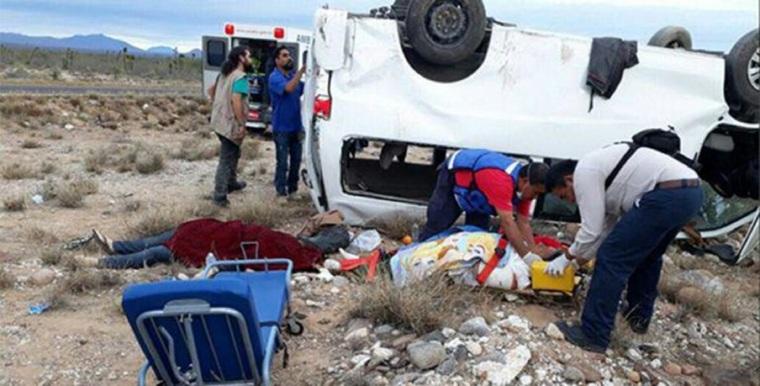 camioneta accidente Marichuy