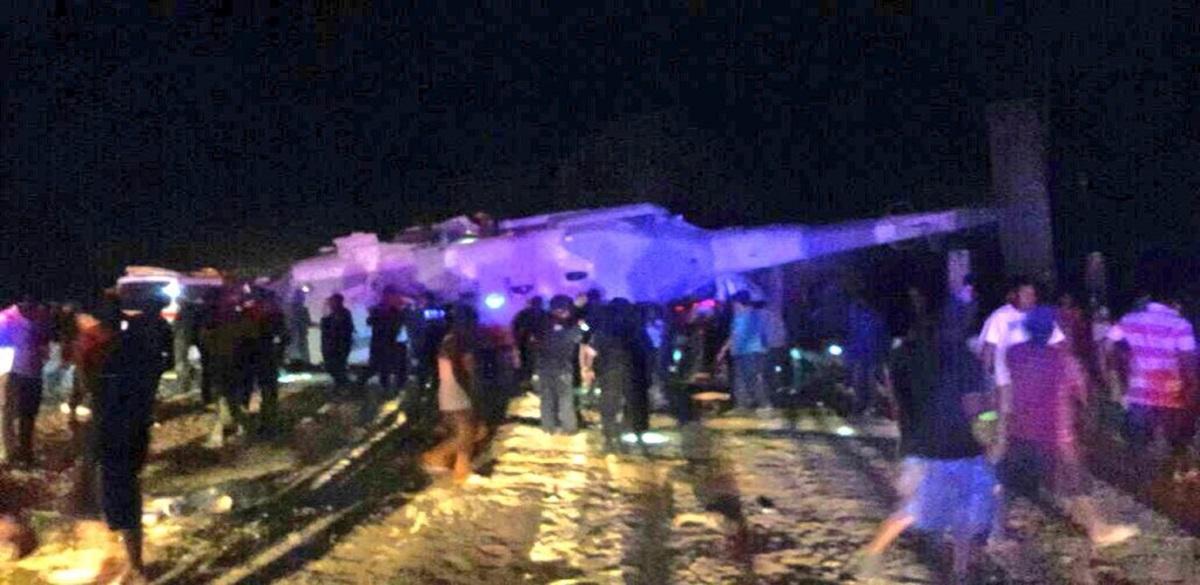 Cae helicóptero en el que viajaba titular de Segob y gobernador de Oaxaca